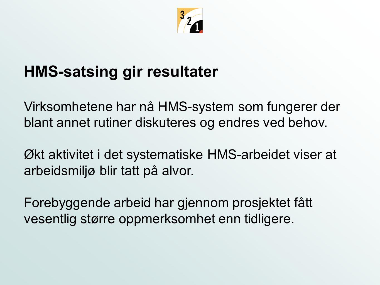 HMS-satsing gir resultater