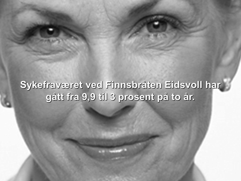 Sykefraværet ved Finnsbråten Eidsvoll har gått fra 9,9 til 3 prosent på to år.