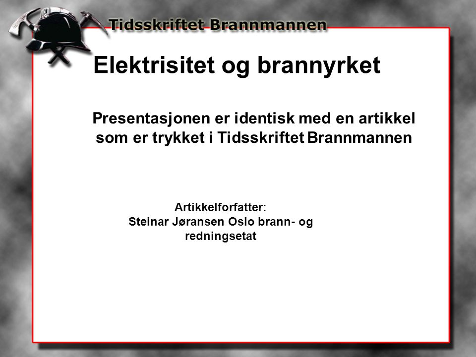 Steinar Jøransen Oslo brann- og redningsetat