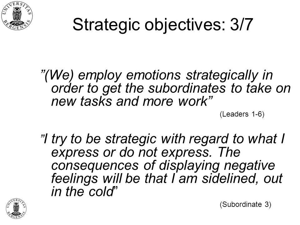 Strategic objectives: 3/7
