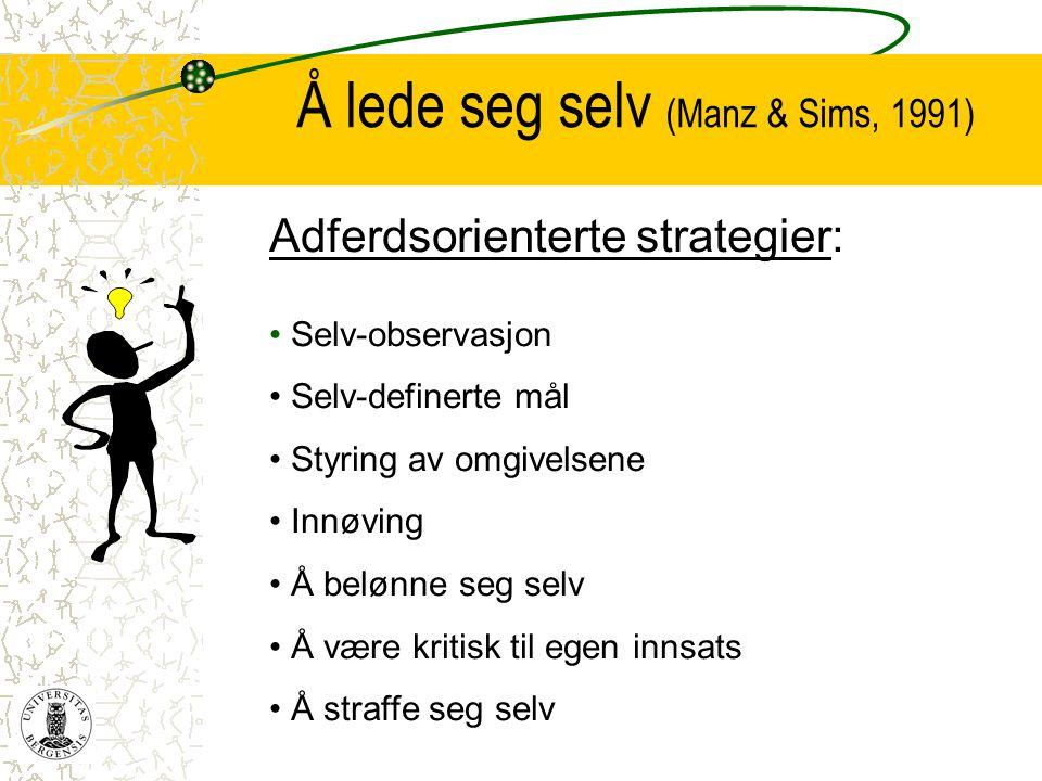 Å lede seg selv (Manz & Sims, 1991)