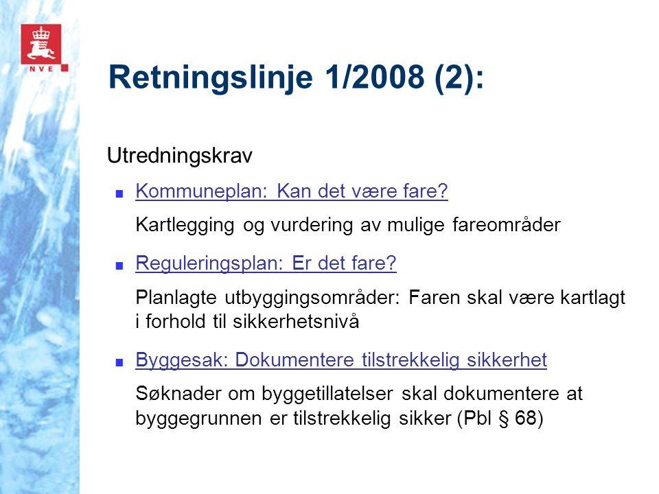 Retningslinje 1/2008 (2): Utredningskrav
