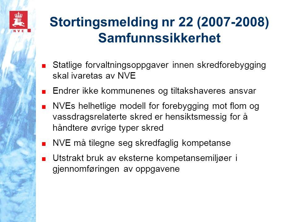 Stortingsmelding nr 22 (2007-2008) Samfunnssikkerhet