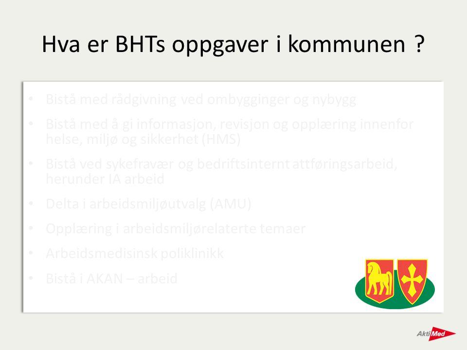 Hva er BHTs oppgaver i kommunen