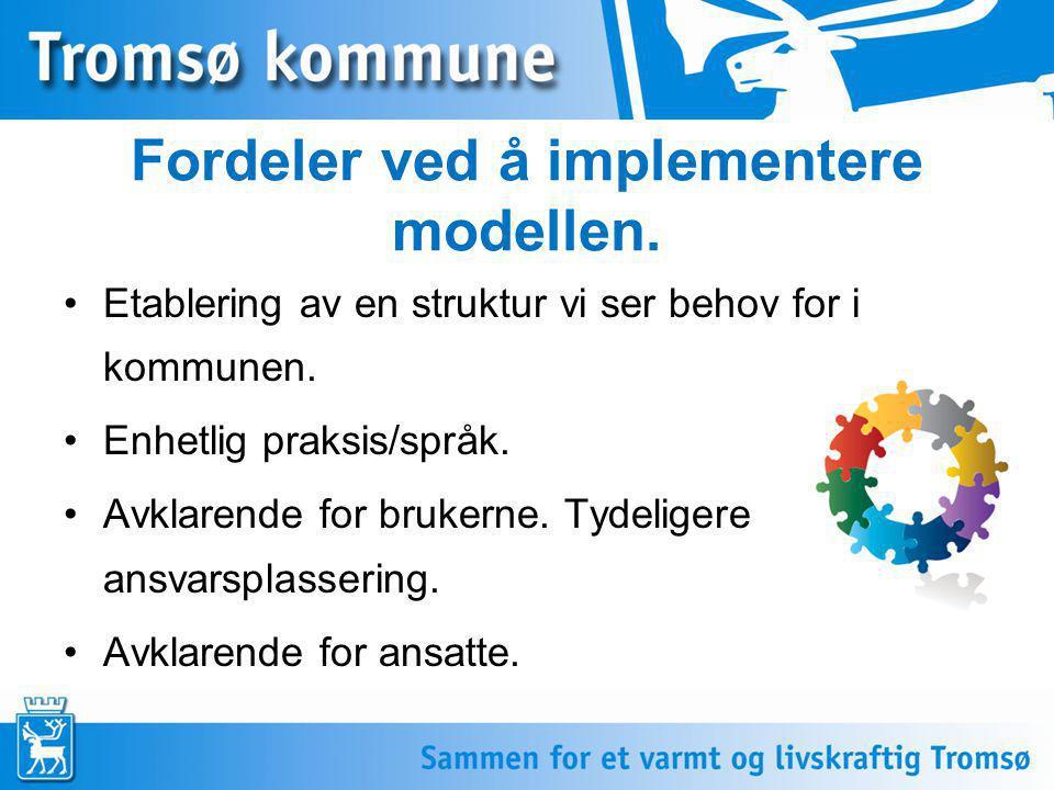 Fordeler ved å implementere modellen.