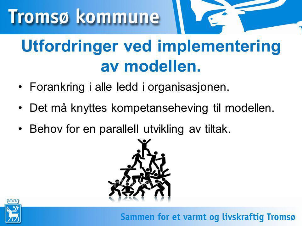 Utfordringer ved implementering av modellen.