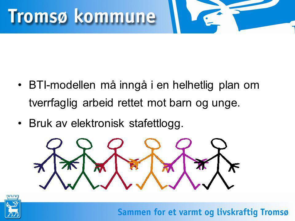 BTI-modellen må inngå i en helhetlig plan om tverrfaglig arbeid rettet mot barn og unge.