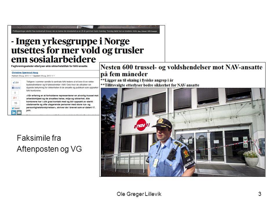 Faksimile fra Aftenposten og VG Ole Greger Lillevik