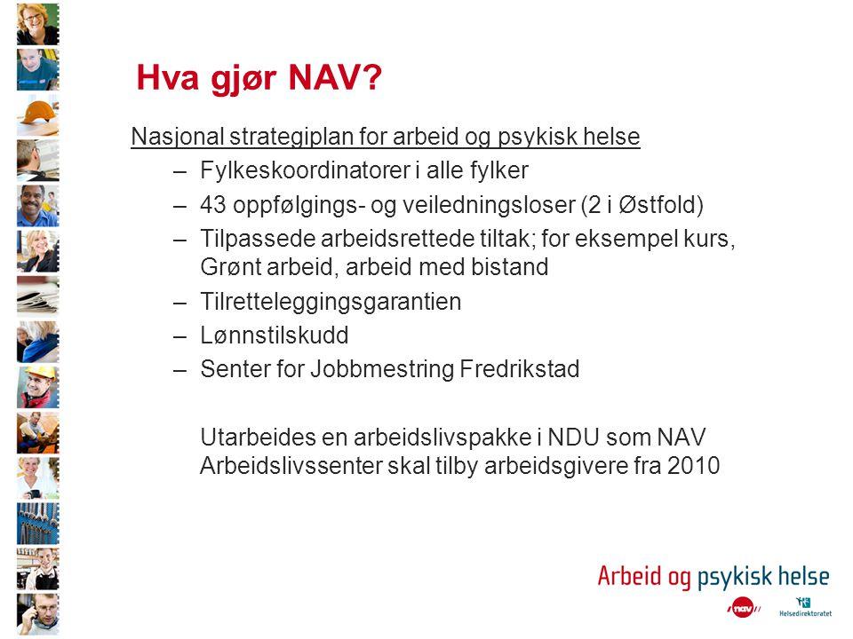 Hva gjør NAV Nasjonal strategiplan for arbeid og psykisk helse