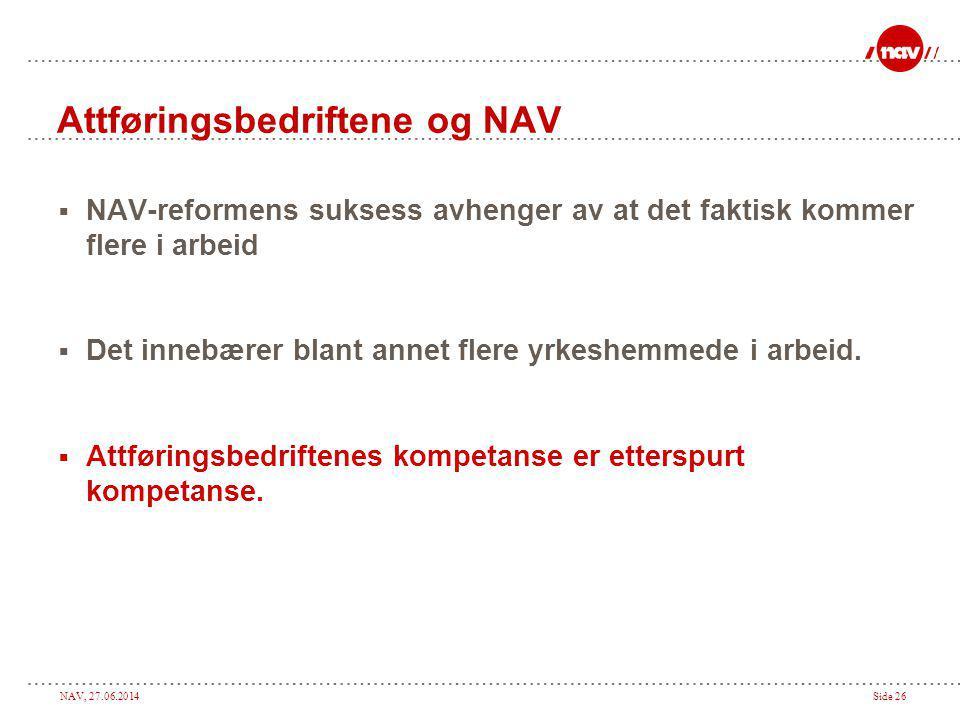 Attføringsbedriftene og NAV