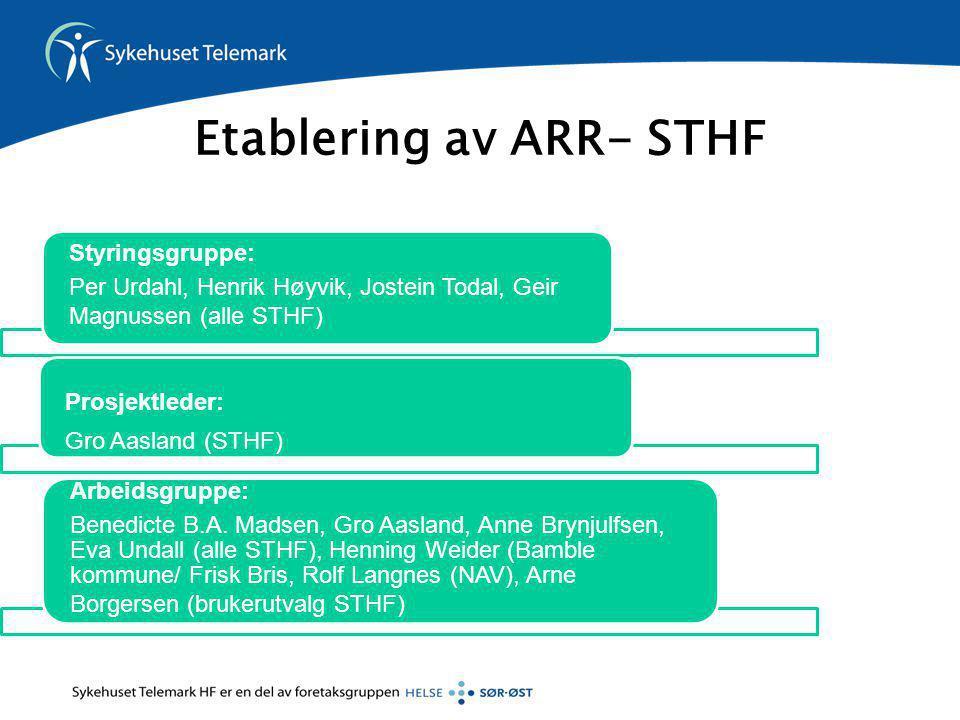 Etablering av ARR- STHF