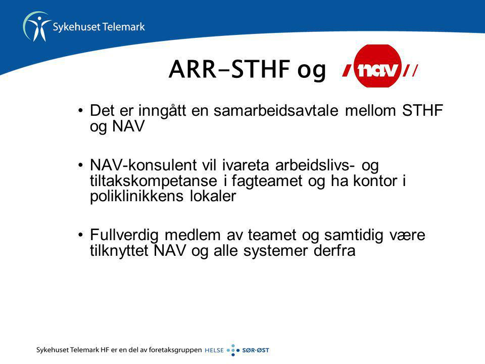 ARR-STHF og Det er inngått en samarbeidsavtale mellom STHF og NAV