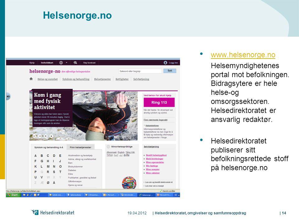 Helsenorge.no www.helsenorge.no