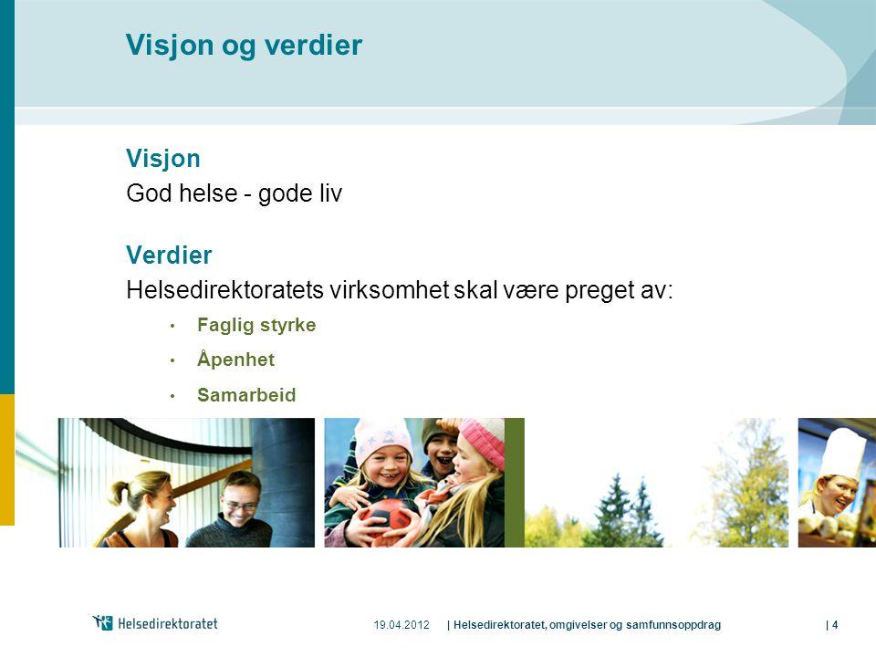 Visjon og verdier Visjon God helse - gode liv Verdier