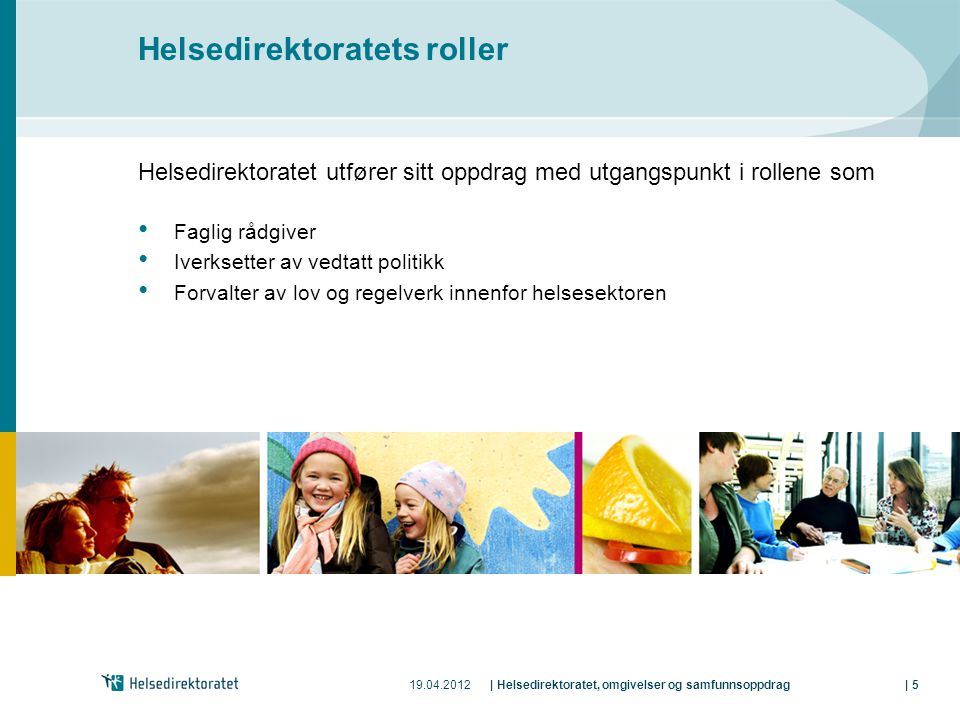 Helsedirektoratets roller