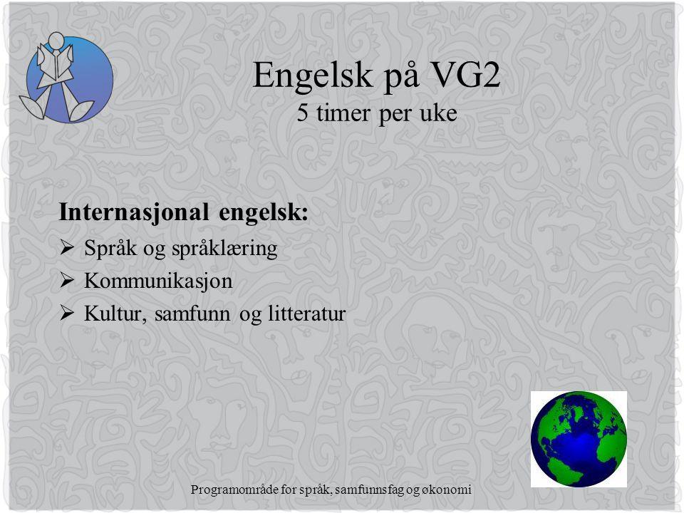 Engelsk på VG2 5 timer per uke