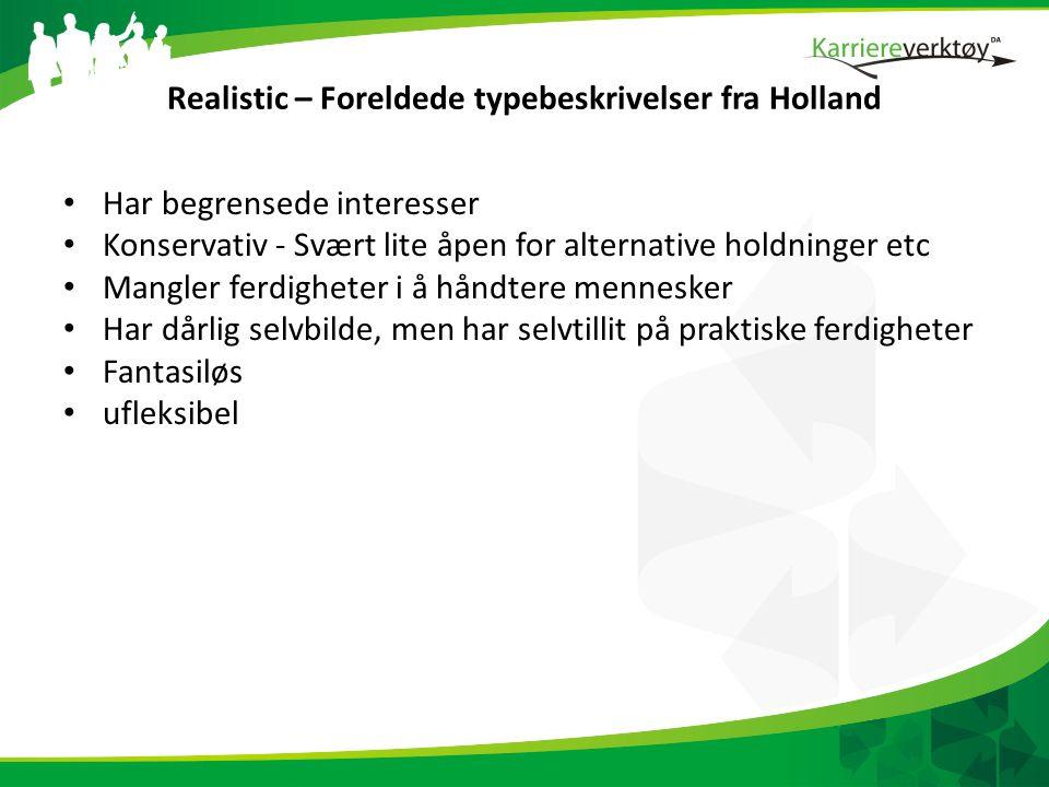 Realistic – Foreldede typebeskrivelser fra Holland