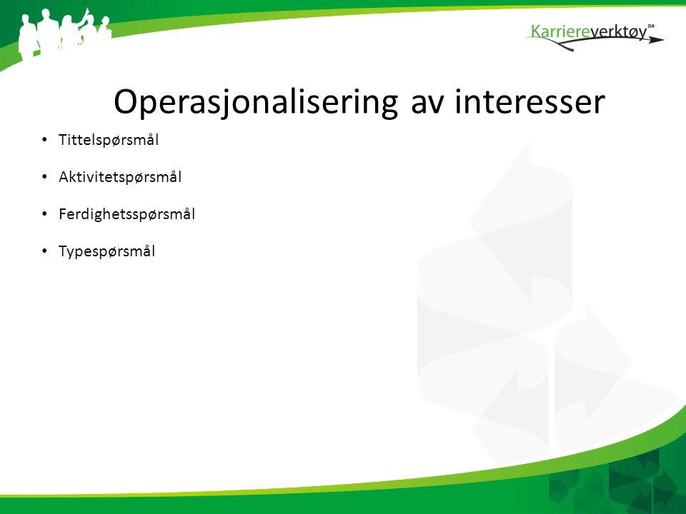 Operasjonalisering av interesser