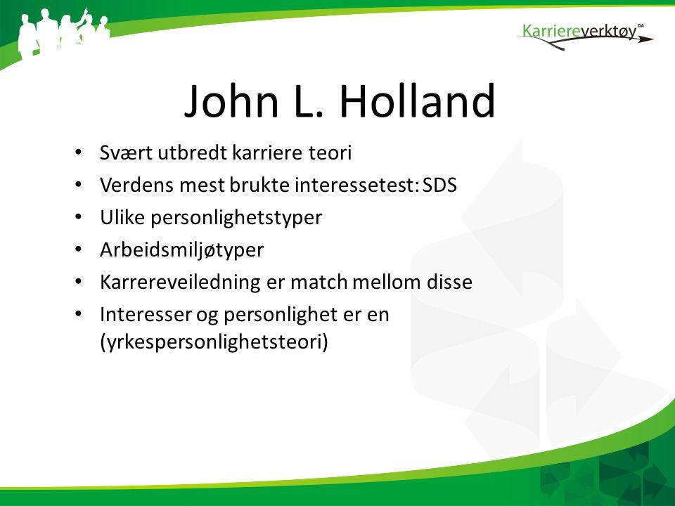 John L. Holland Svært utbredt karriere teori