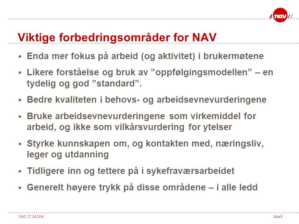 Viktige forbedringsområder for NAV