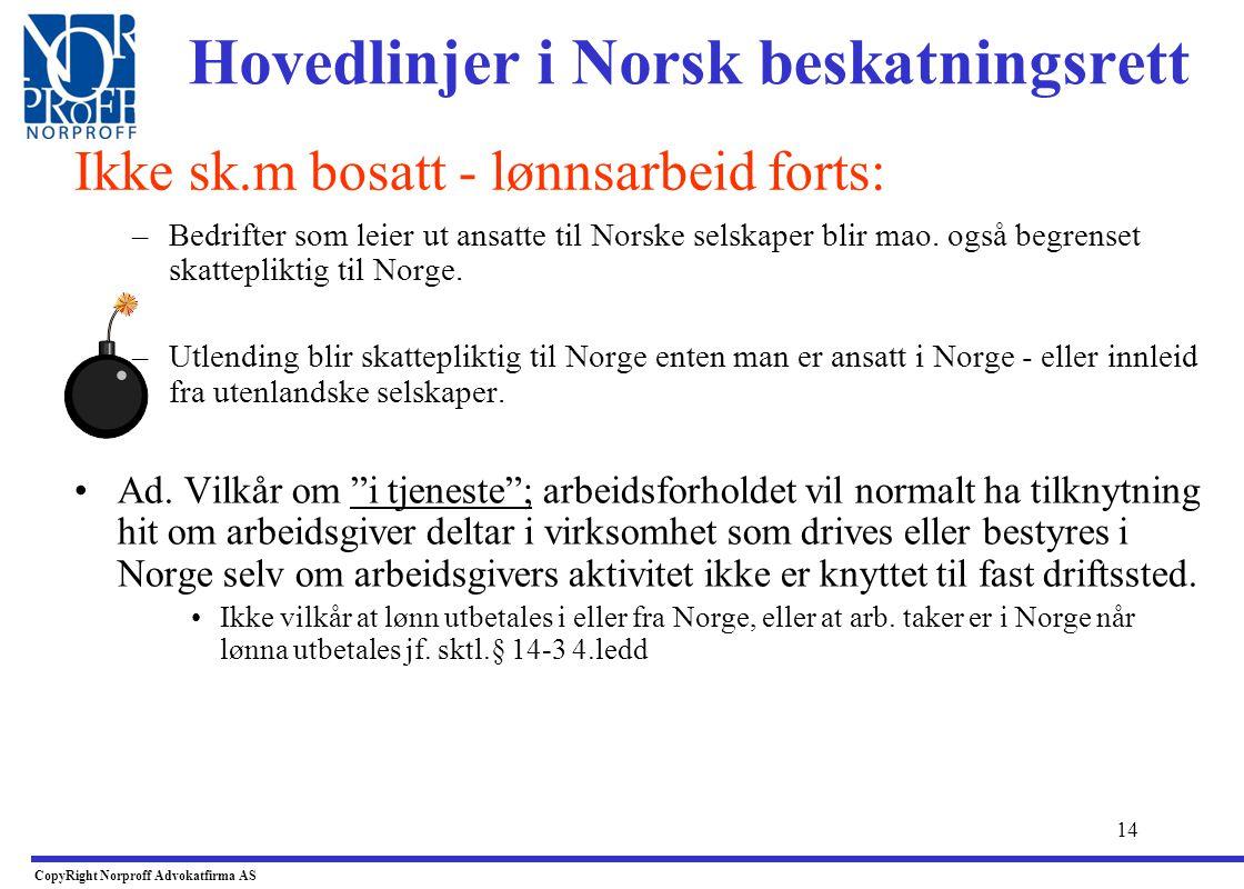 Hovedlinjer i Norsk beskatningsrett