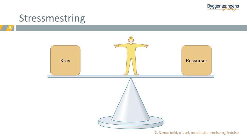 Stressmestring 2. Samarbeid, trivsel, medbestemmelse og ledelse