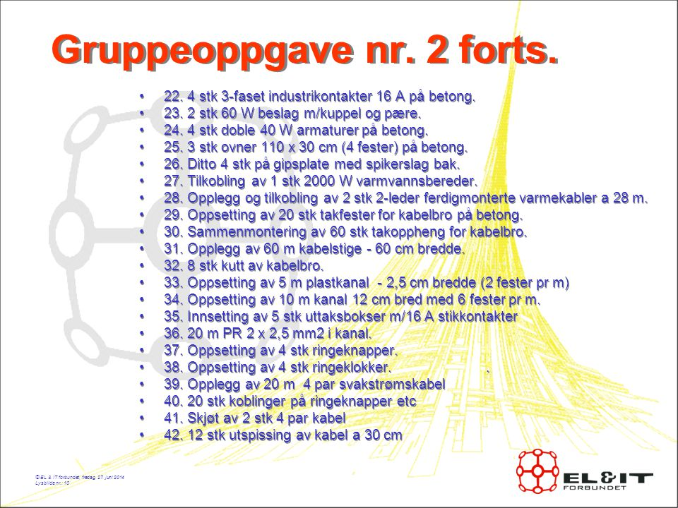 Gruppeoppgave nr. 2 forts.