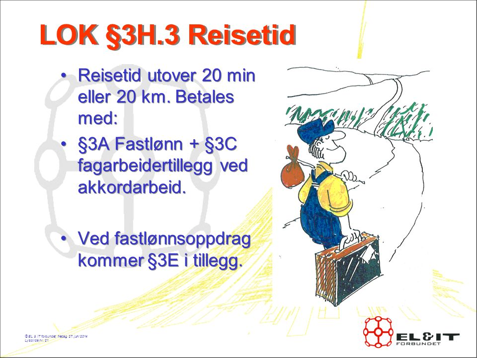 LOK §3H.3 Reisetid Reisetid utover 20 min eller 20 km. Betales med: