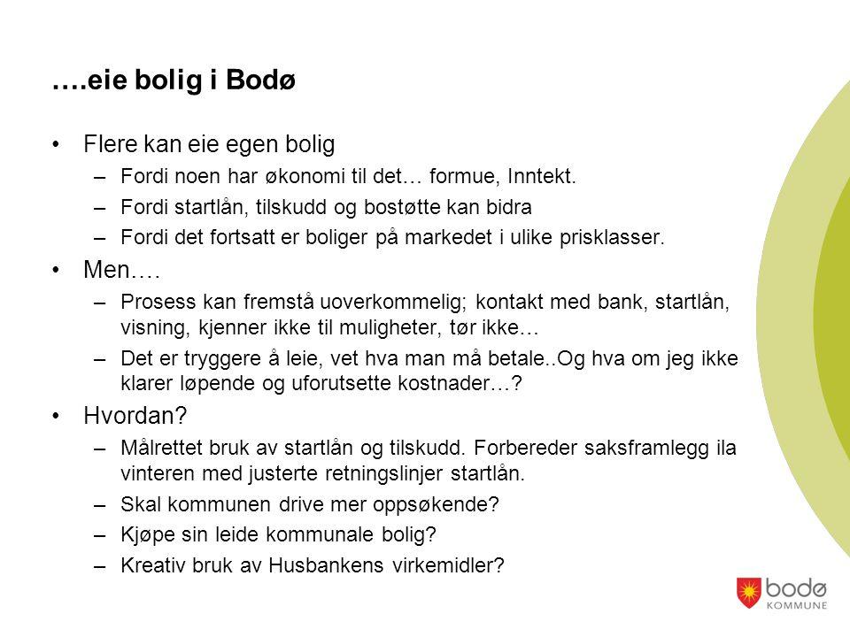 ….eie bolig i Bodø Flere kan eie egen bolig Men…. Hvordan