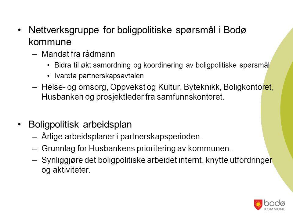 Nettverksgruppe for boligpolitiske spørsmål i Bodø kommune