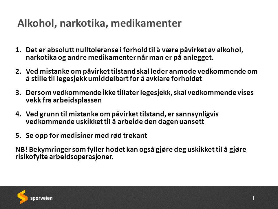 Alkohol, narkotika, medikamenter