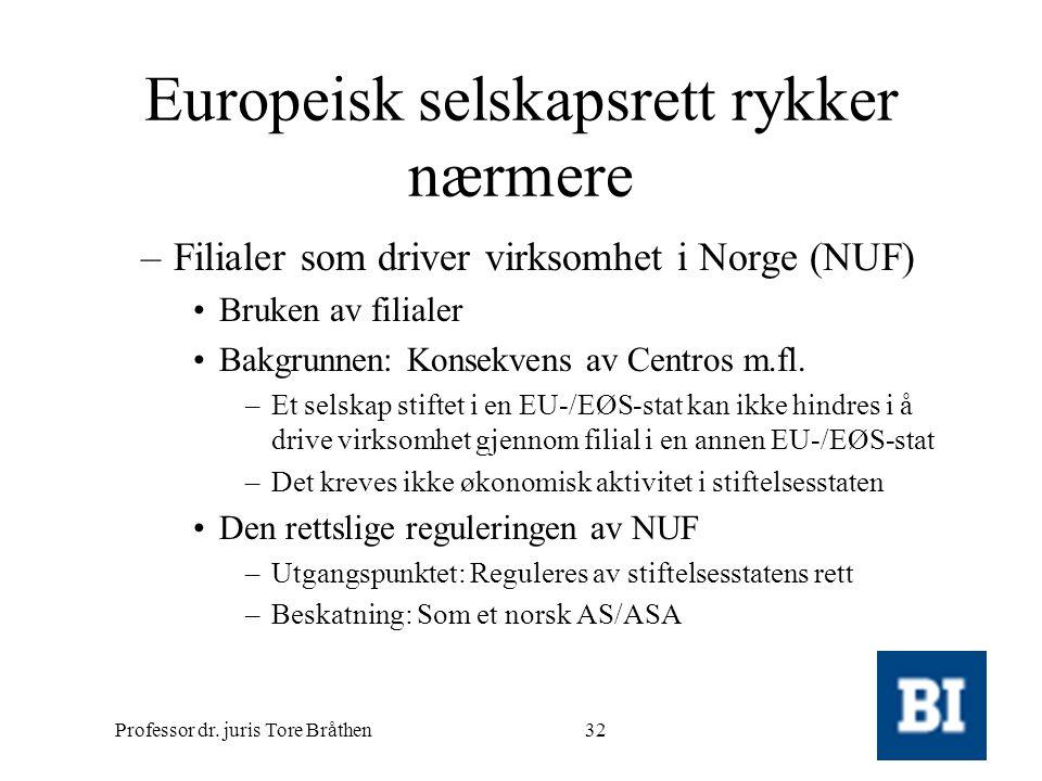 Europeisk selskapsrett rykker nærmere