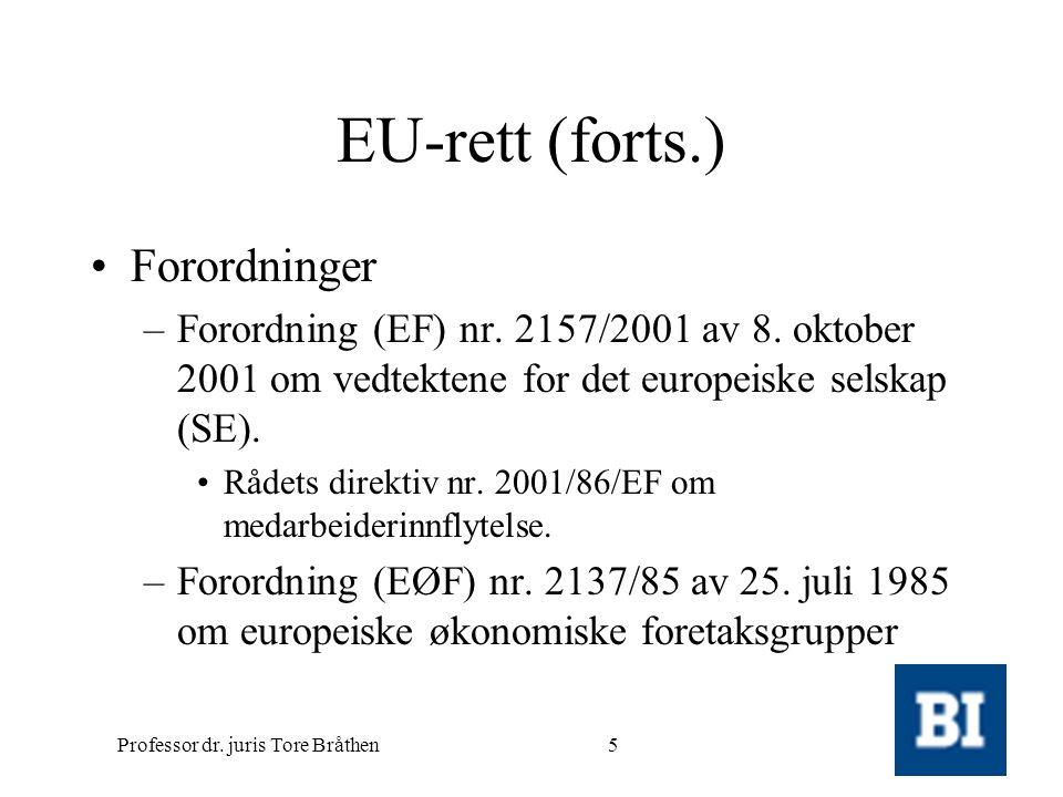Professor dr. juris Tore Bråthen