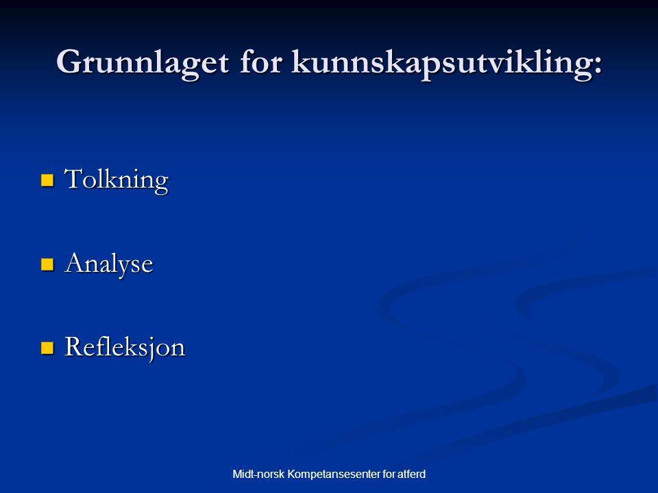 Grunnlaget for kunnskapsutvikling: