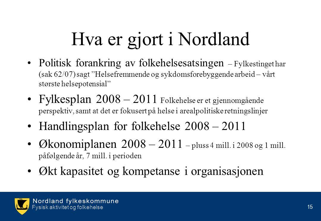 Hva er gjort i Nordland