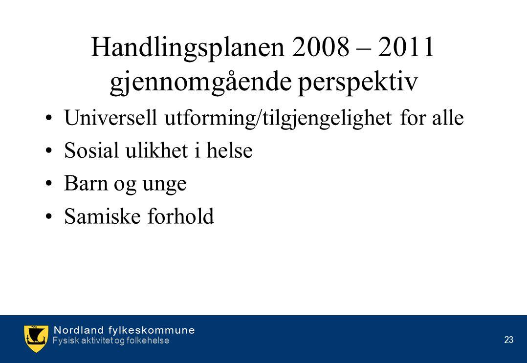 Handlingsplanen 2008 – 2011 gjennomgående perspektiv