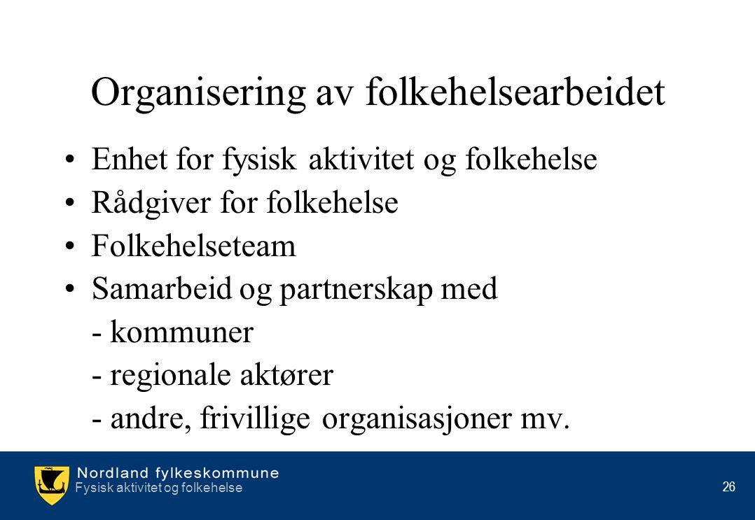 Organisering av folkehelsearbeidet