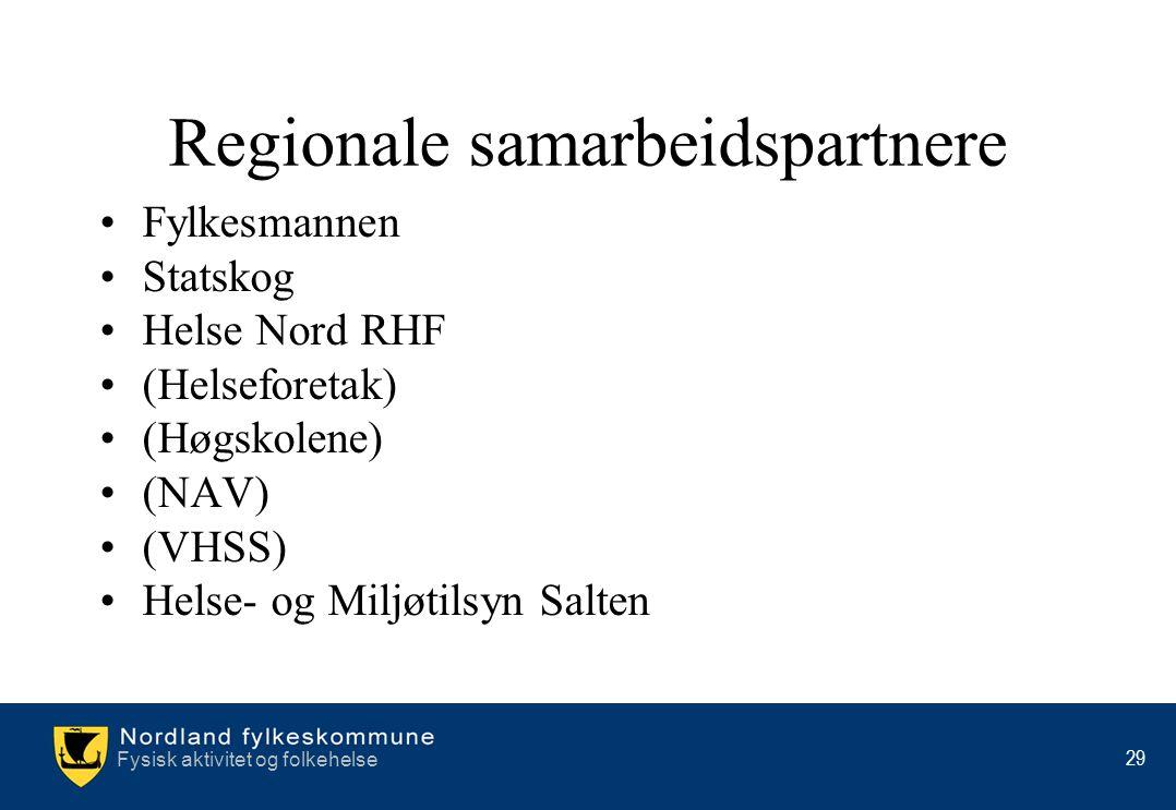 Regionale samarbeidspartnere