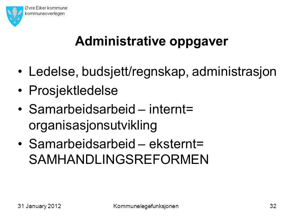 Administrative oppgaver