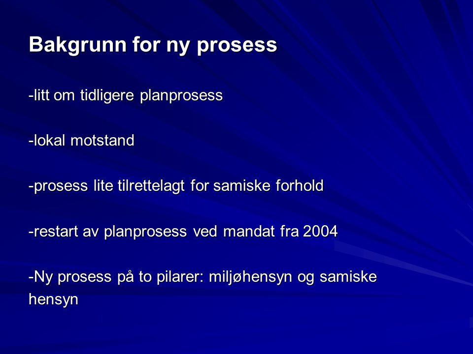Bakgrunn for ny prosess