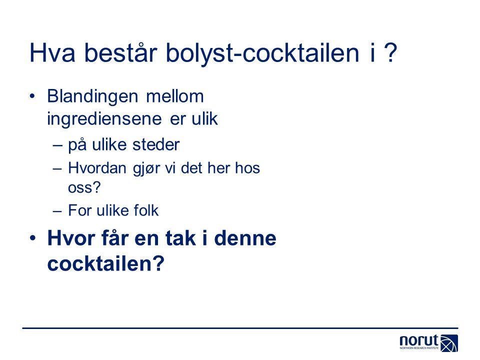 Hva består bolyst-cocktailen i