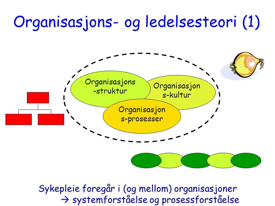 Organisasjons- og ledelsesteori (1)