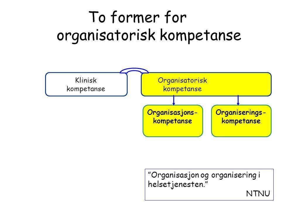 To former for organisatorisk kompetanse