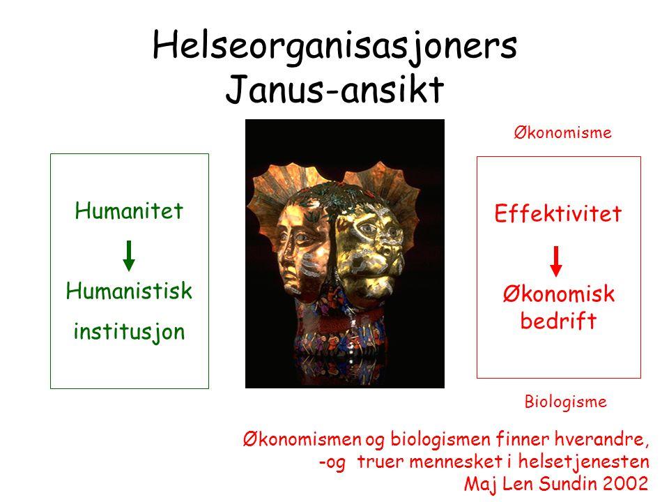 Helseorganisasjoners Janus-ansikt