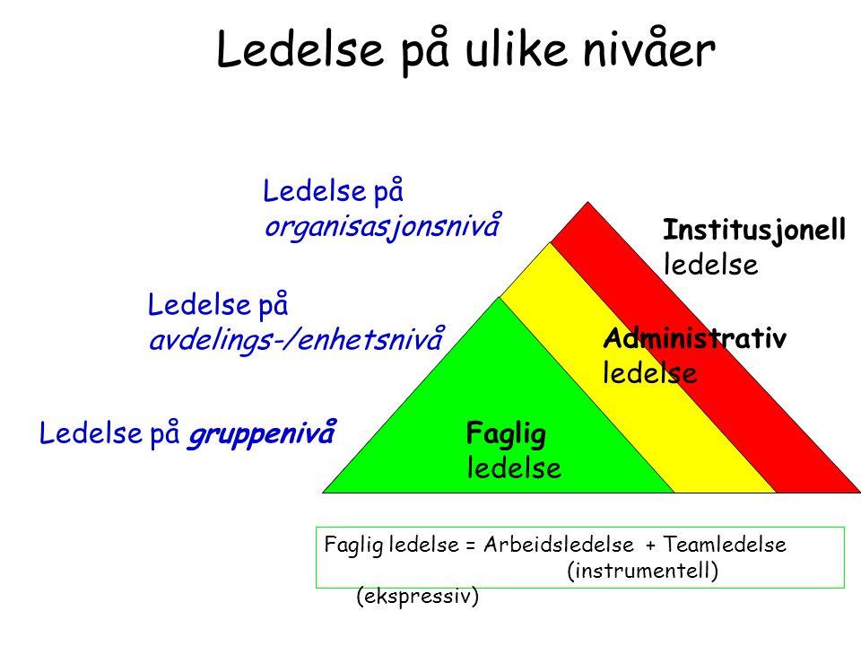 Ledelse på ulike nivåer