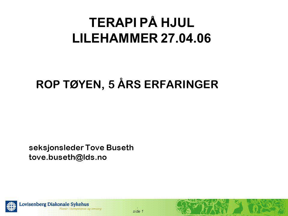 TERAPI PÅ HJUL LILEHAMMER 27.04.06