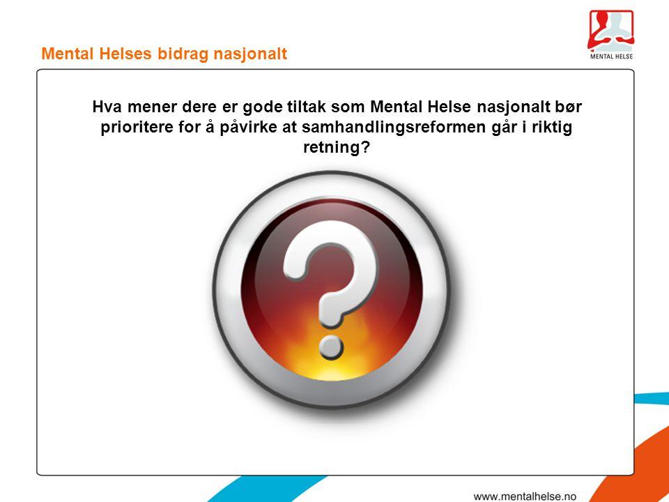 Mental Helses bidrag nasjonalt
