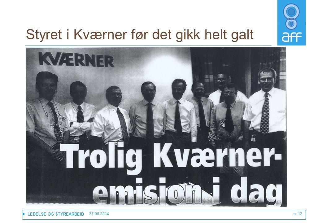 Styret i Kværner før det gikk helt galt