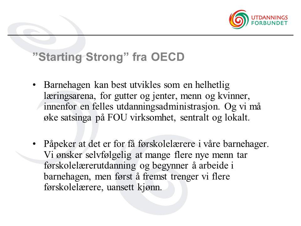 Starting Strong fra OECD