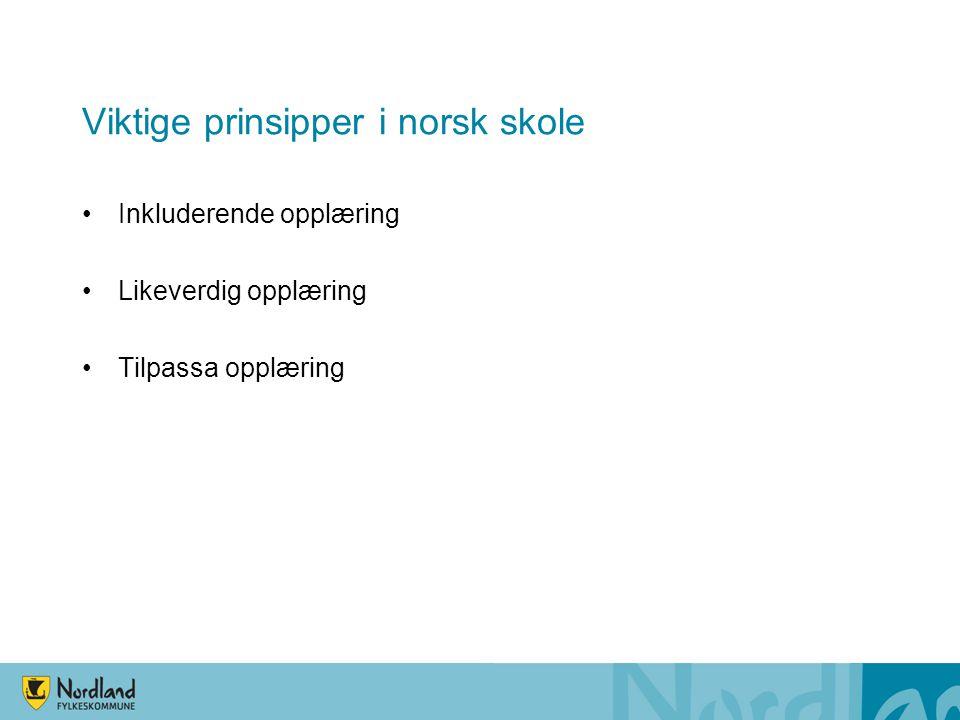 Viktige prinsipper i norsk skole